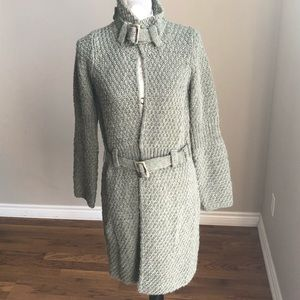 Cocogio Italy Chunky Knit Belted Cardigan Sweater